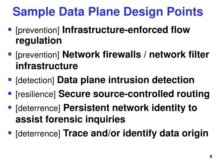 Sample Data Plane Design Points