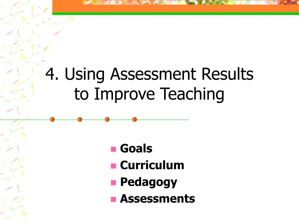 4. Using Assessment Results