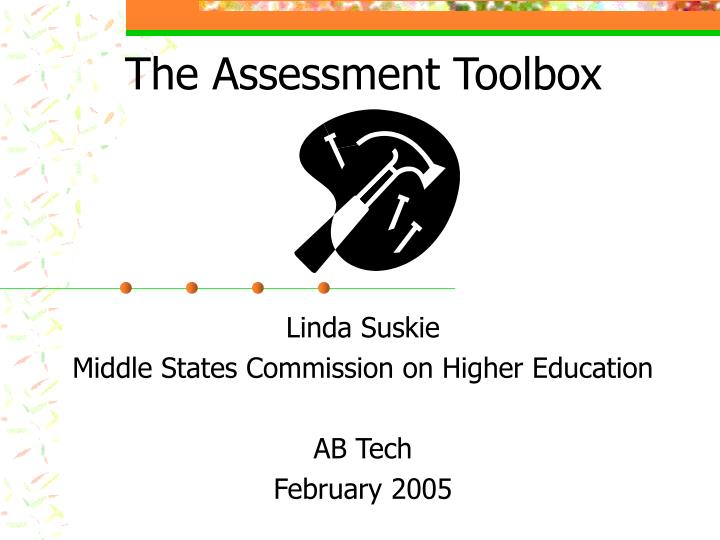 The assessment toolbox l.jpg