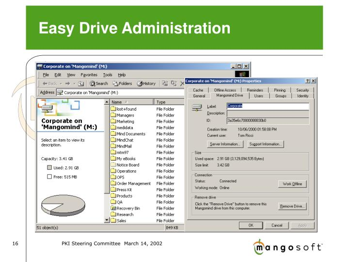 Easy Drive Administration