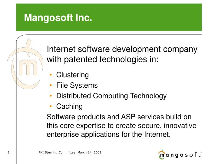 Mangosoft Inc.