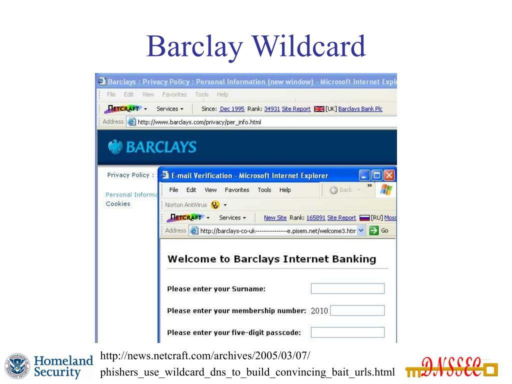 Barclay Wildcard