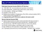 more ip vpn internet access options