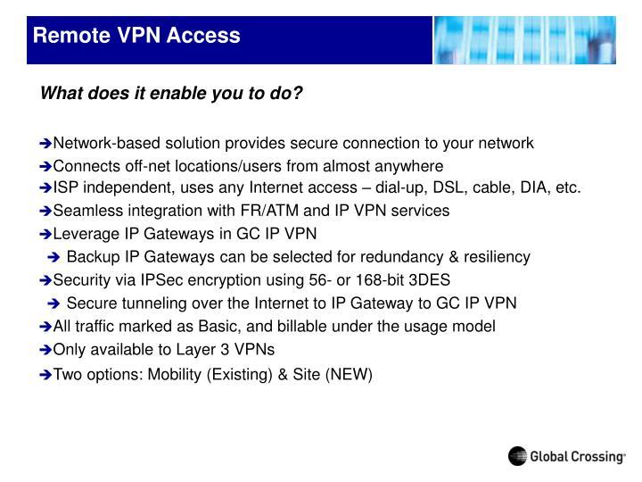 Remote VPN Access