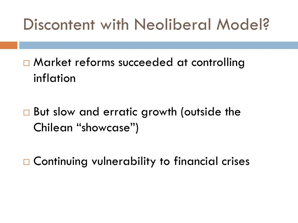Discontent with Neoliberal Model?