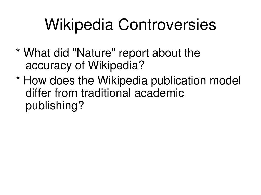 Wikipedia Controversies