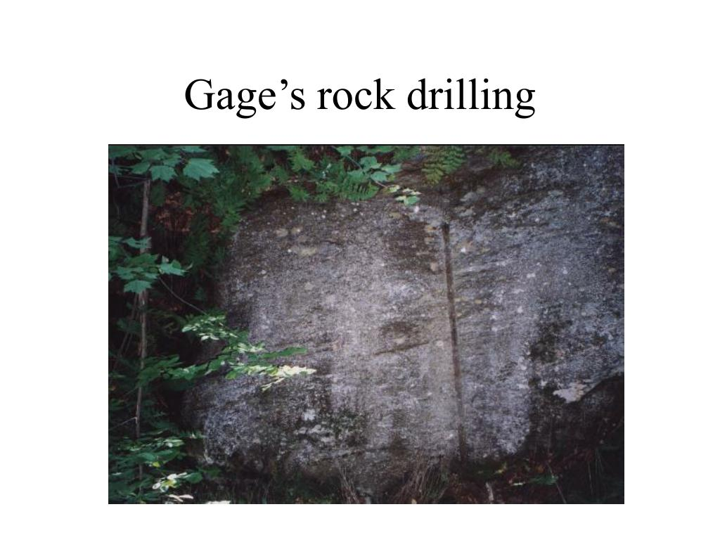Gage's rock drilling