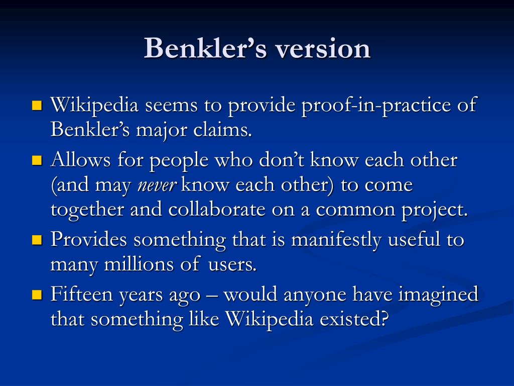 Benkler's version