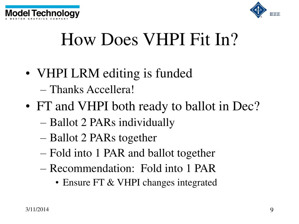 How Does VHPI Fit In?
