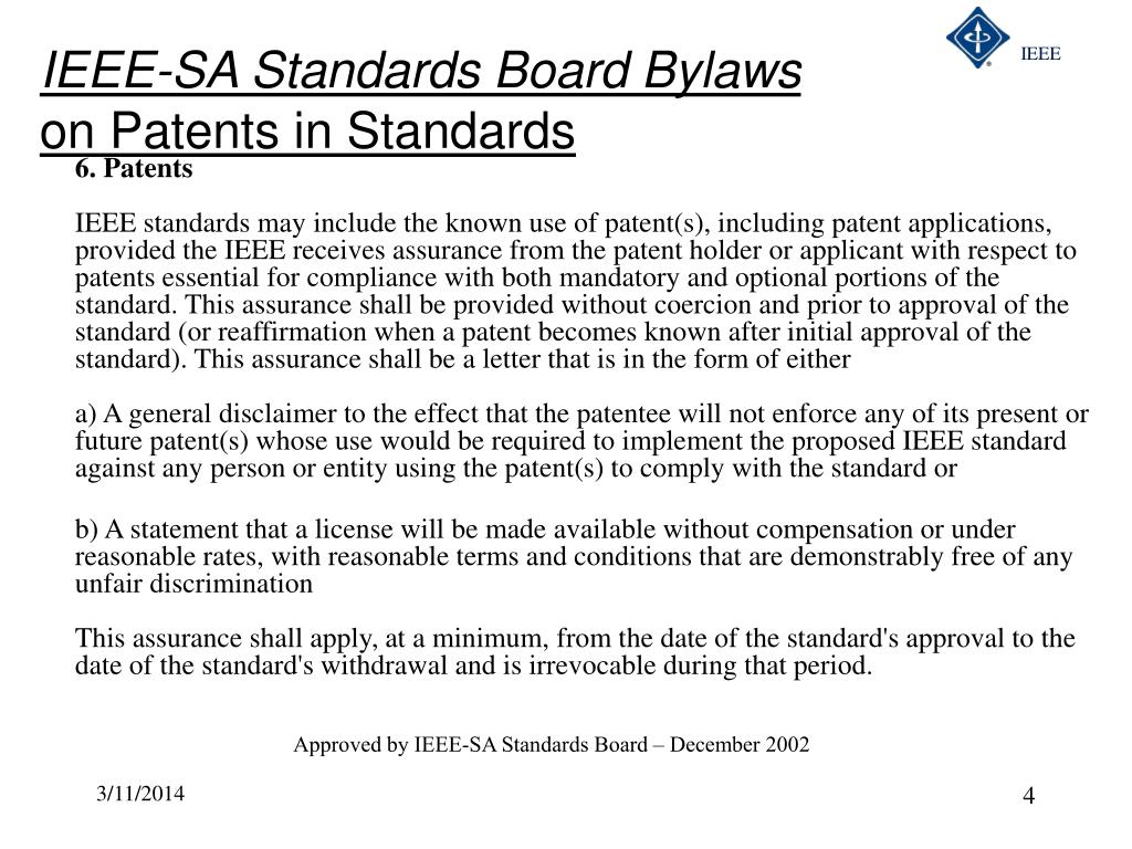 IEEE-SA Standards Board Bylaws