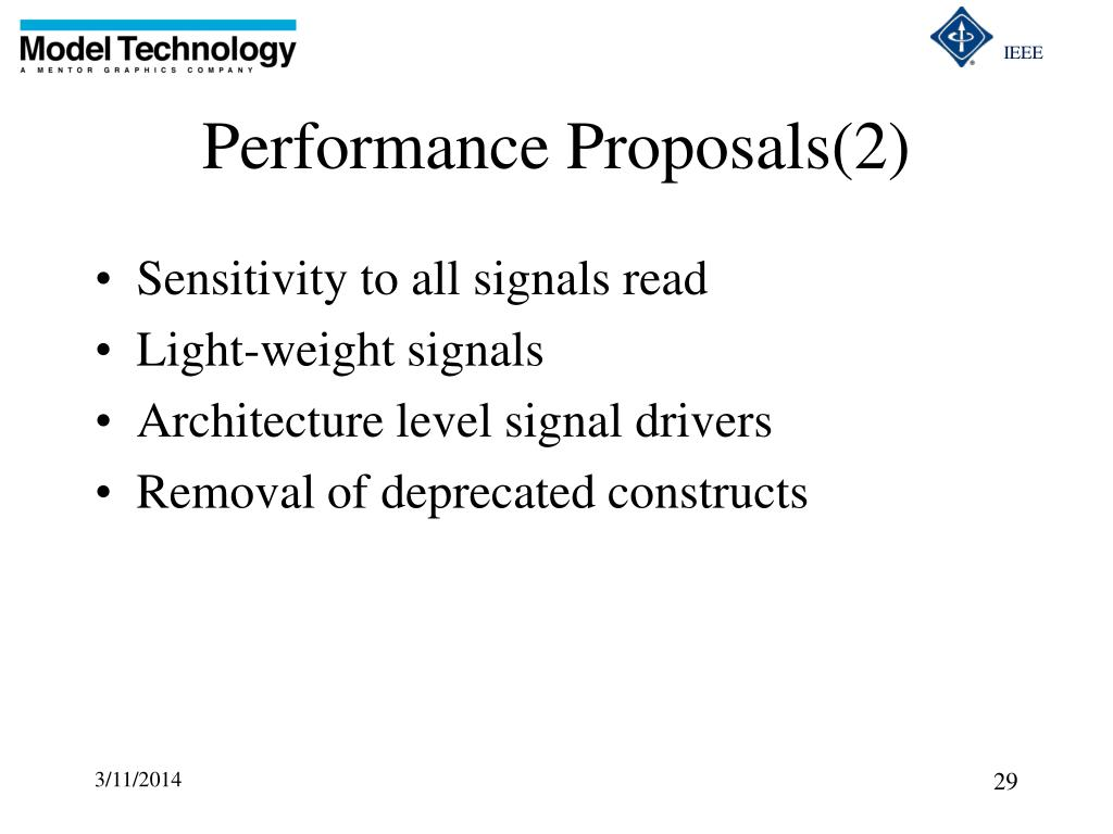 Performance Proposals(2)
