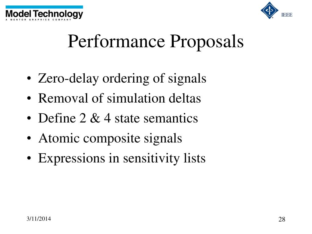 Performance Proposals