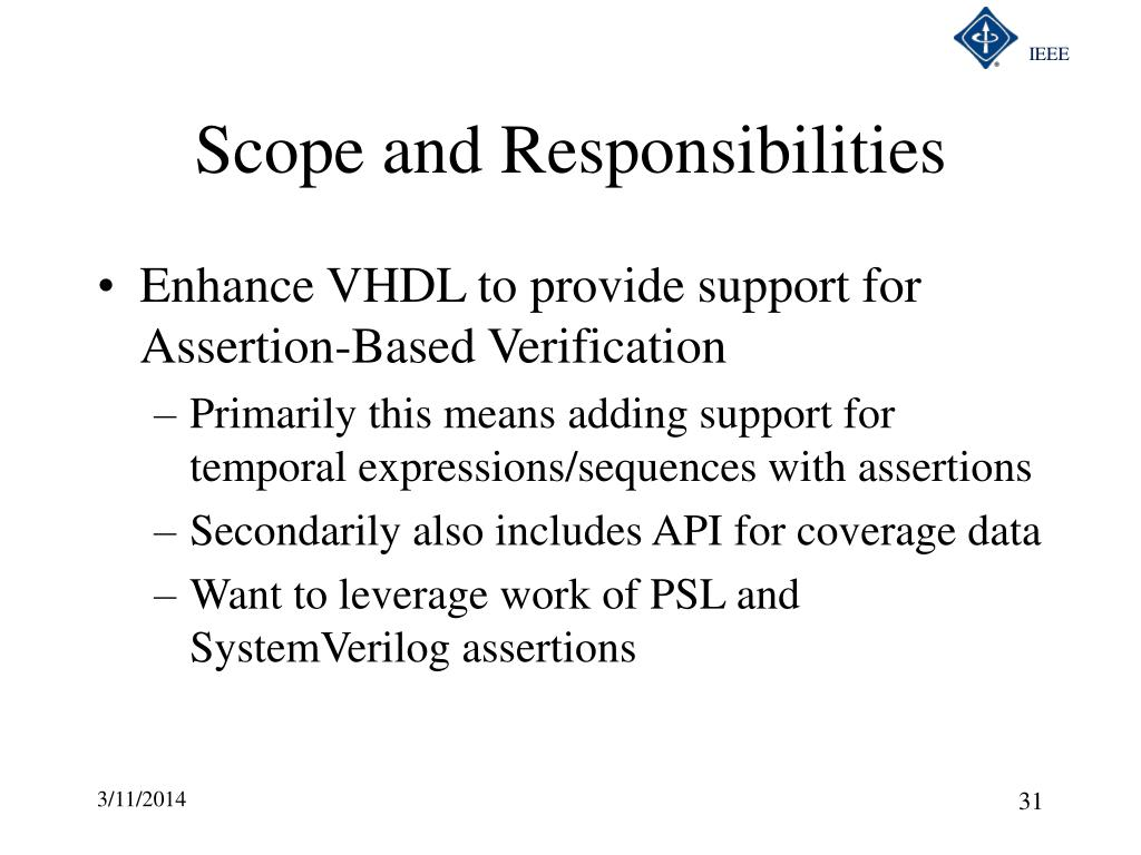 Scope and Responsibilities