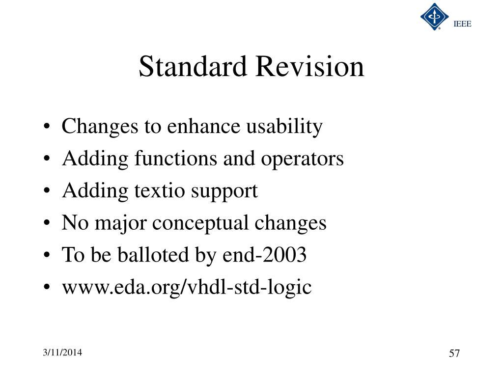 Standard Revision