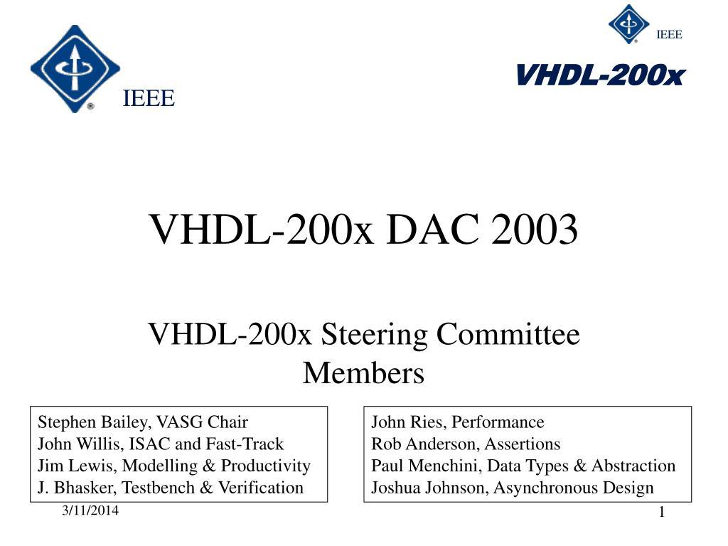 VHDL-200x