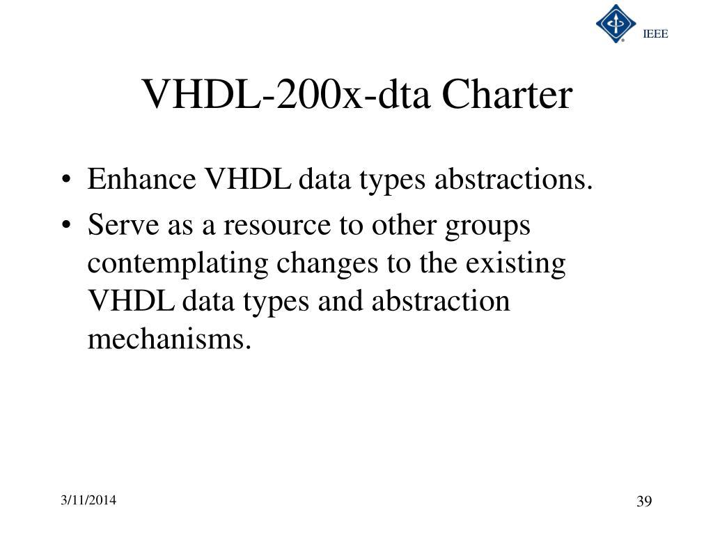 VHDL-200x-dta Charter