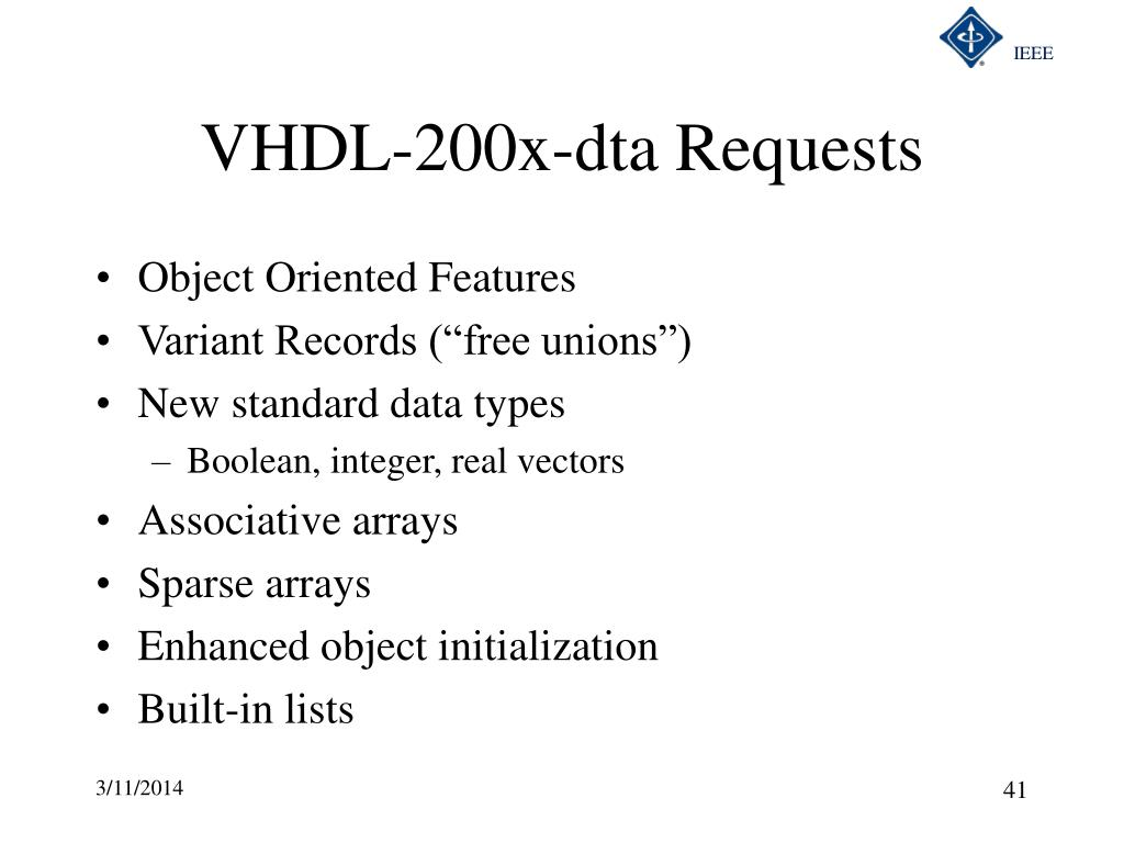 VHDL-200x-dta Requests