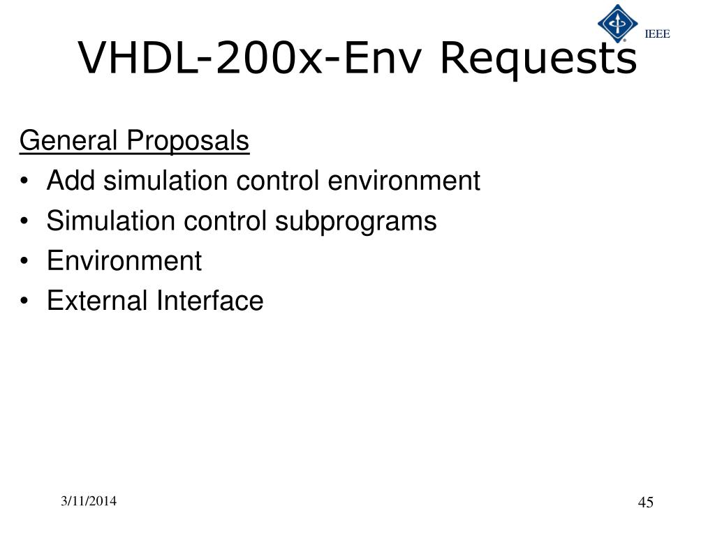 VHDL-200x-Env Requests