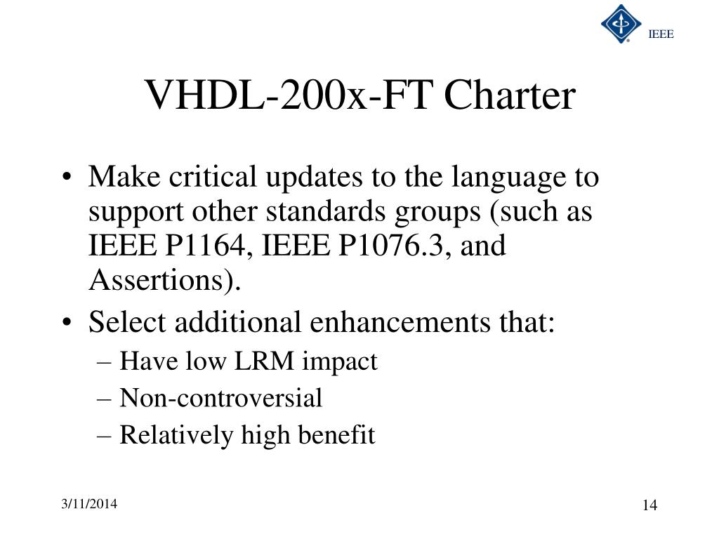 VHDL-200x-FT Charter