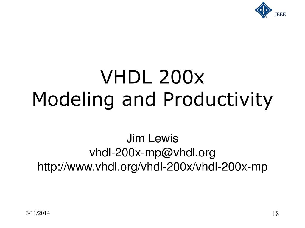 VHDL 200x