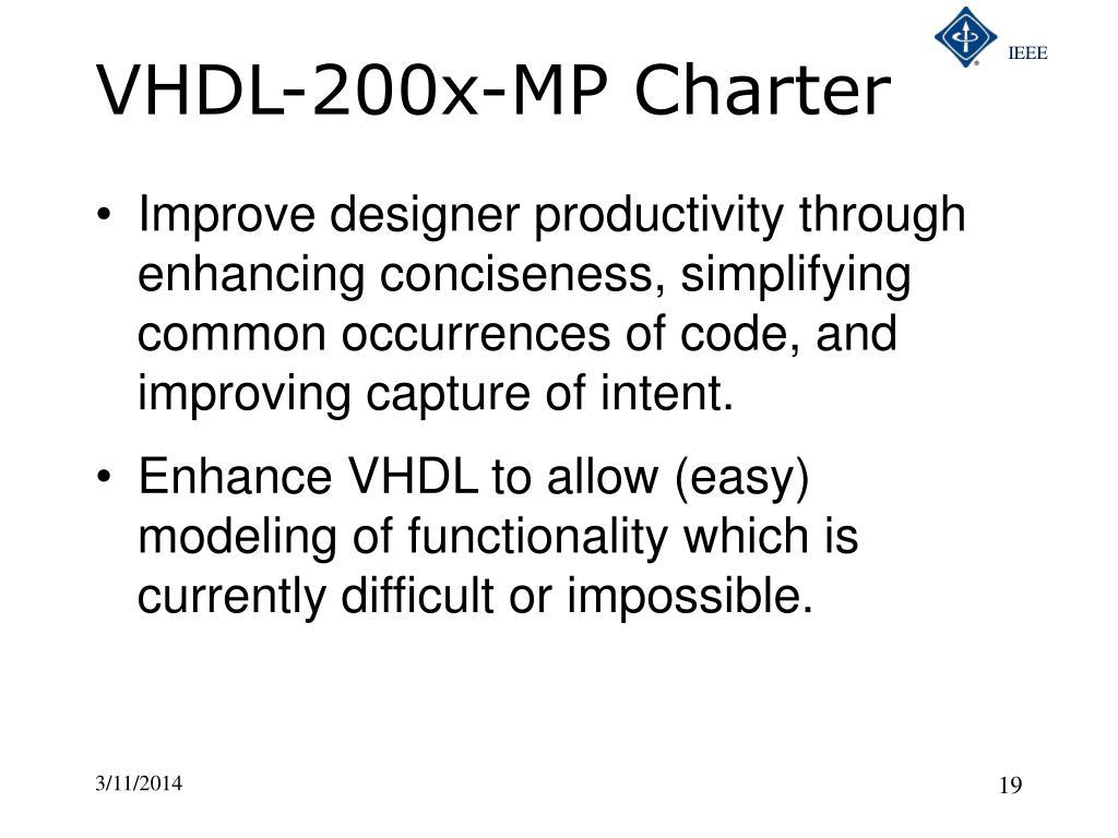 VHDL-200x-MP Charter