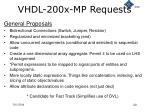 vhdl 200x mp requests
