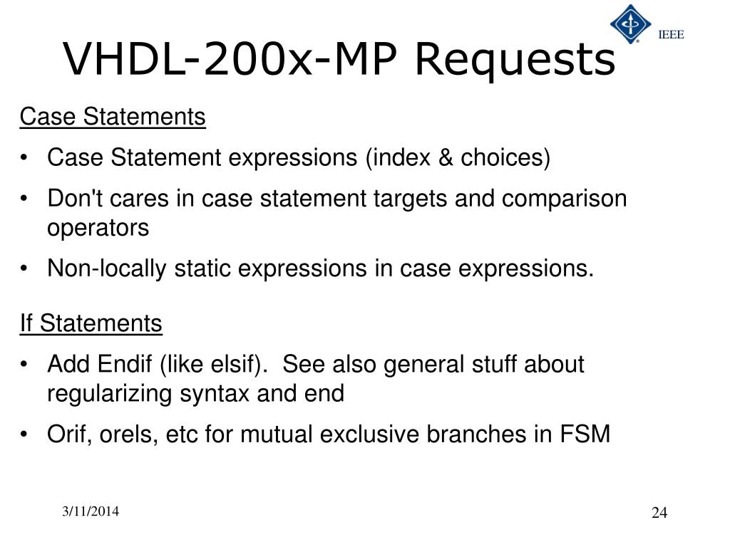 VHDL-200x-MP Requests