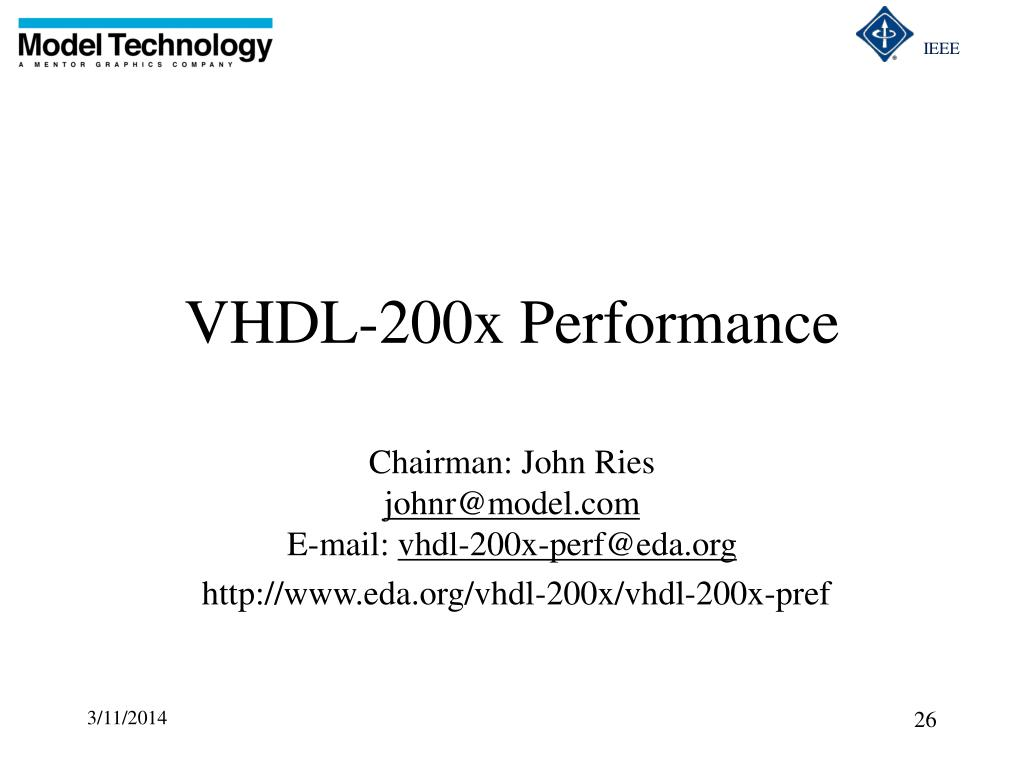 VHDL-200x Performance