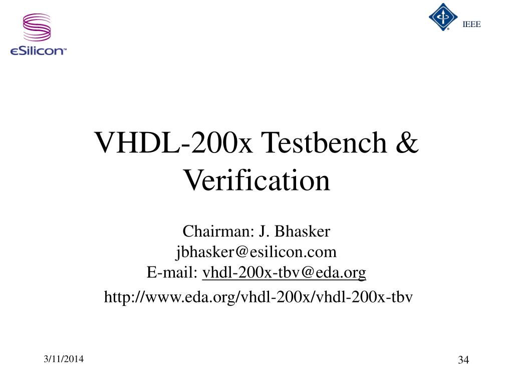 VHDL-200x Testbench & Verification