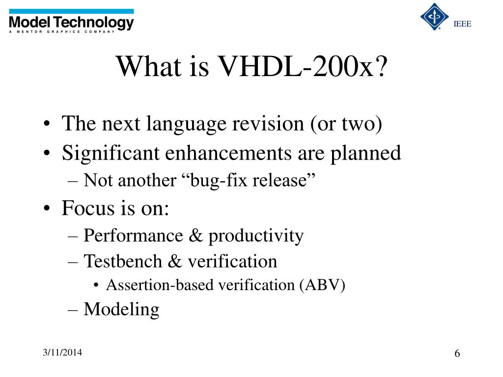 What is VHDL-200x?