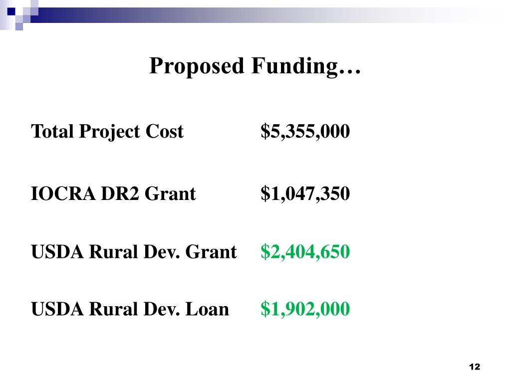 Proposed Funding…