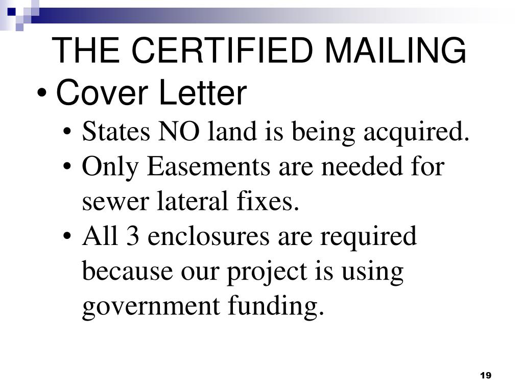 THE CERTIFIED MAILING