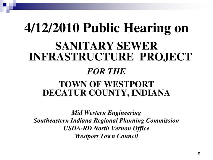 4/12/2010 Public Hearing on