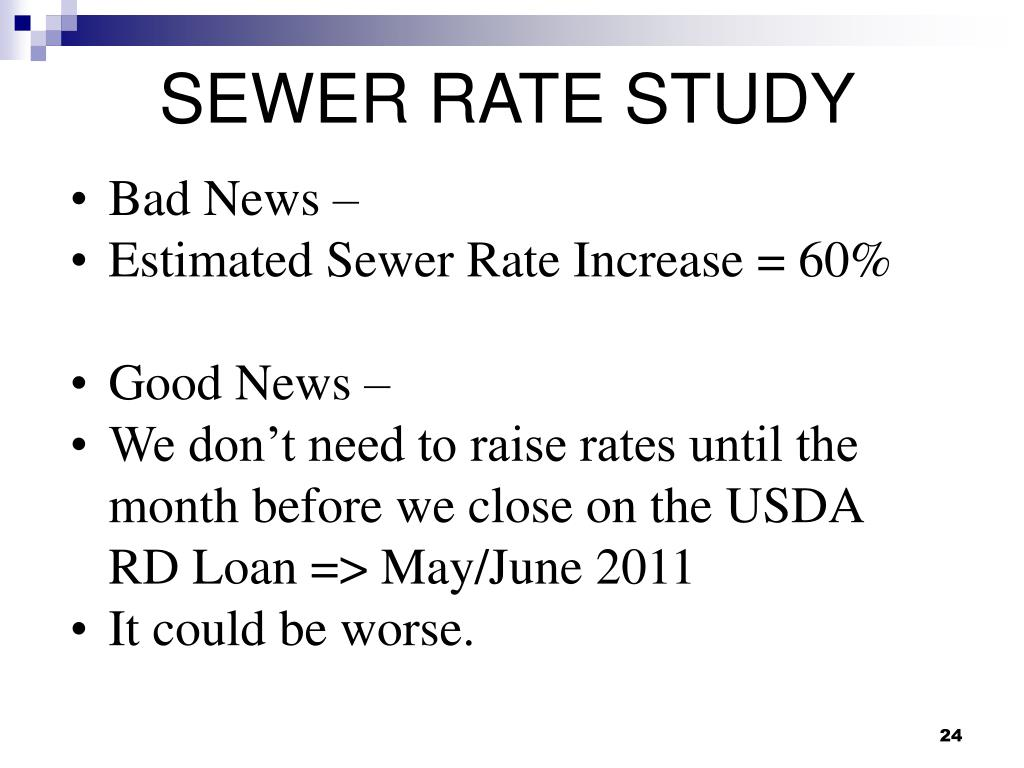 SEWER RATE STUDY