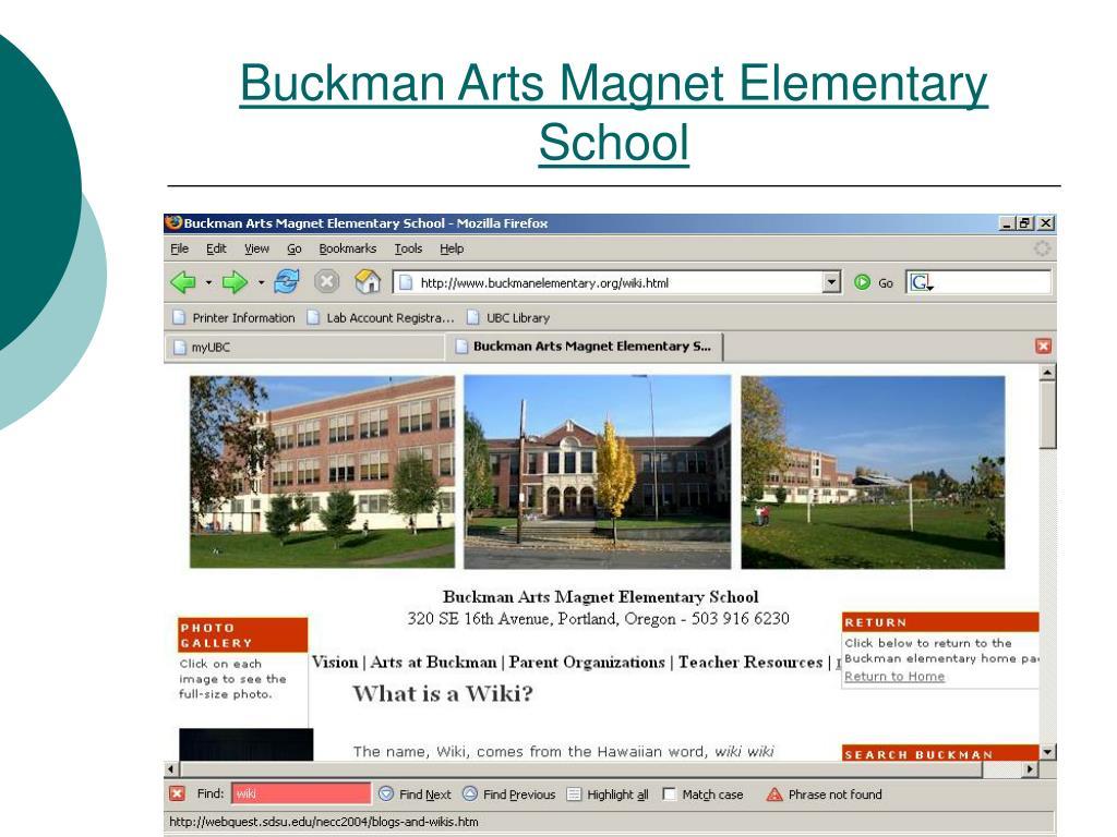 Buckman Arts Magnet Elementary School