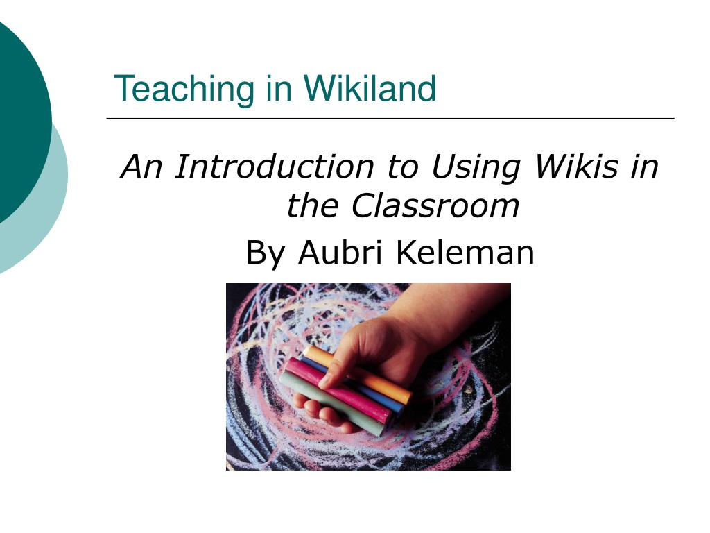 Teaching in Wikiland
