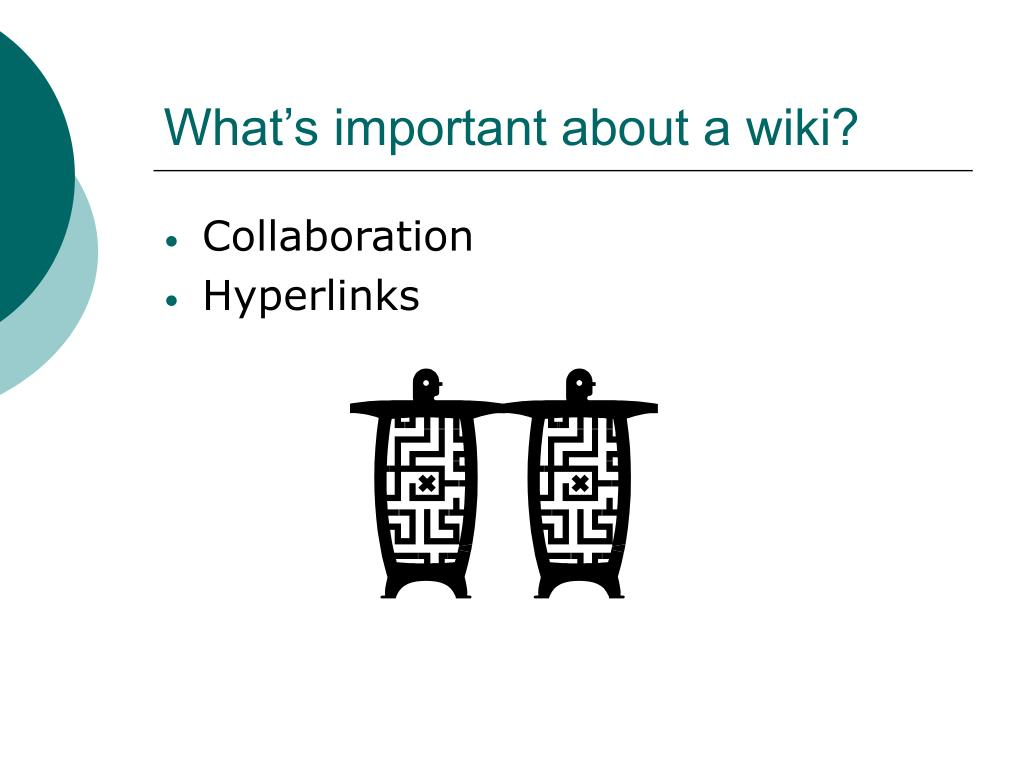 What's important about a wiki?