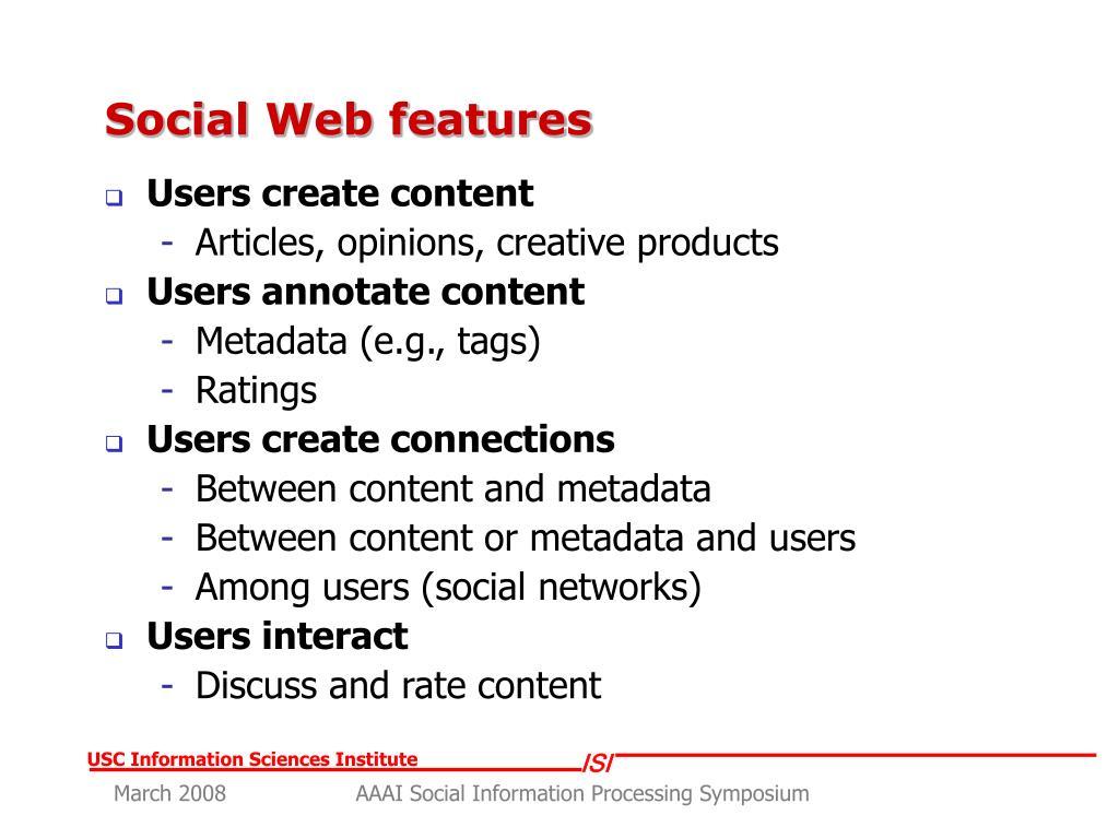 Social Web features