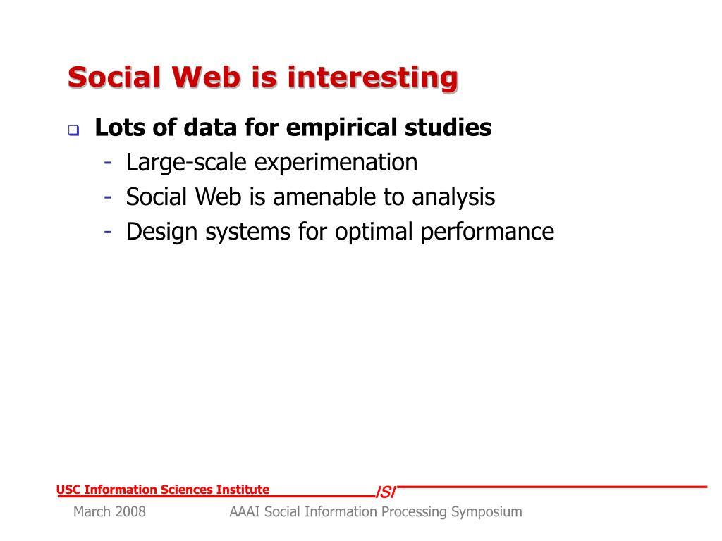 Social Web is interesting