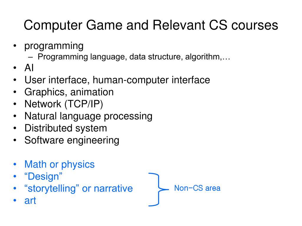 Computer Game and Relevant CS courses