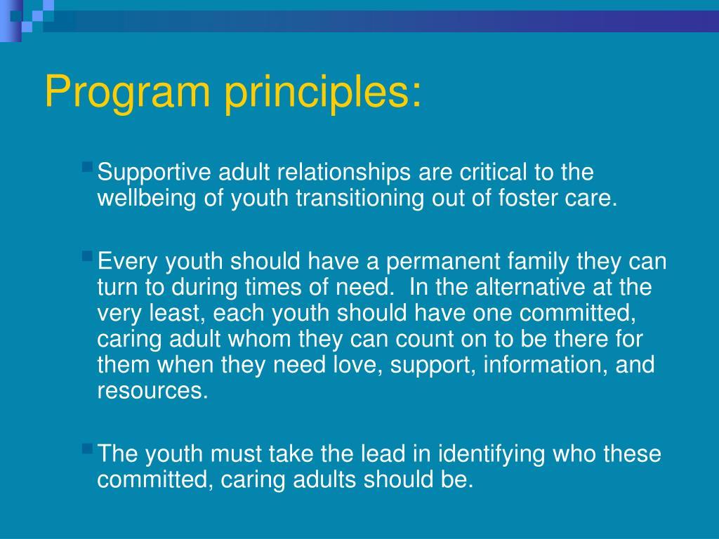 Program principles:
