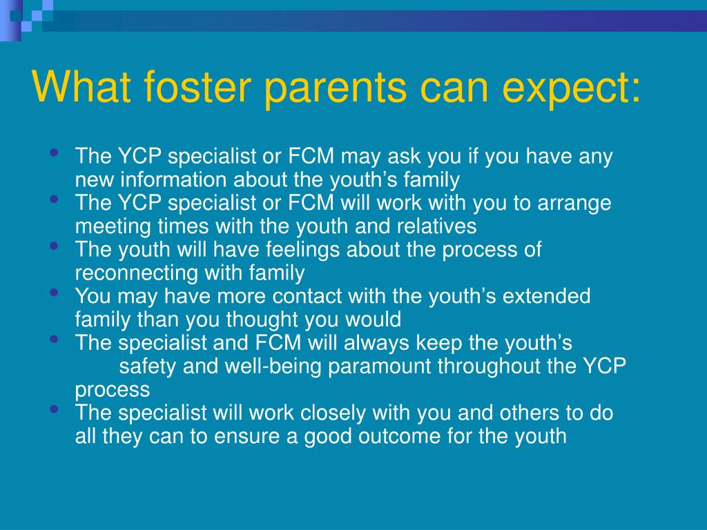 What foster parents can expect: