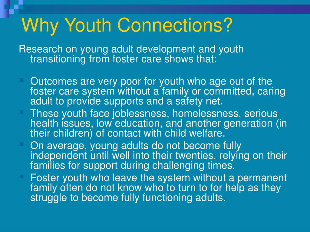 Why Youth Connections?