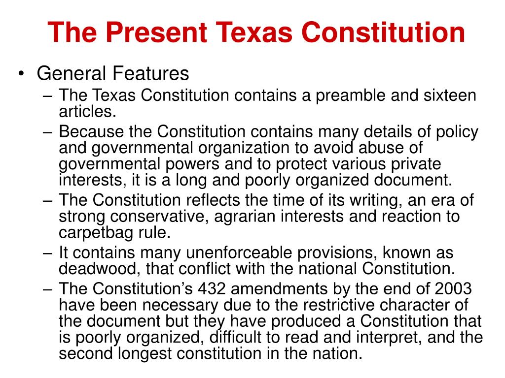 "the texas and u.s. constitution essay Essay eye on texas the texas constitution requires that two or ""structural,"" deficit of about $10 billion every two years that will be with us until."