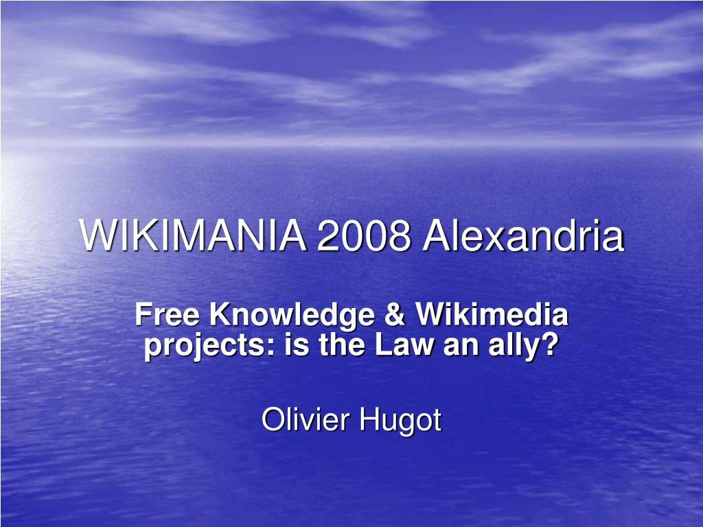 WIKIMANIA 2008 Alexandria