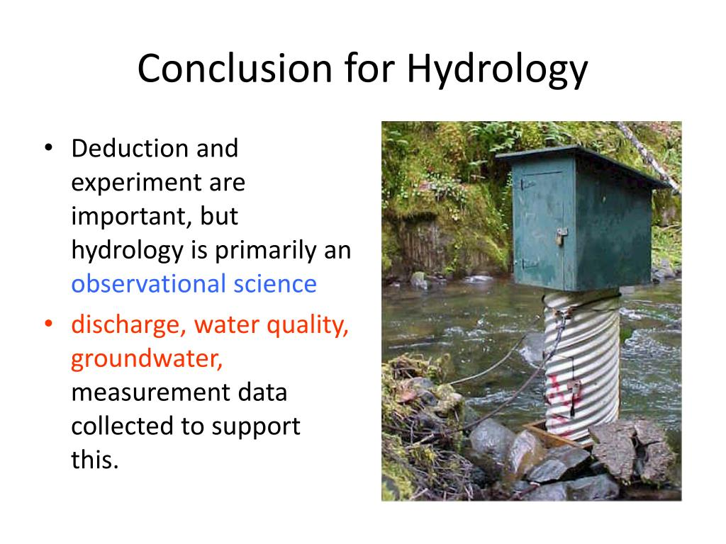 Conclusion for Hydrology