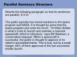 parallel sentence structure10
