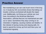 practice answer