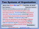 two systems of organization