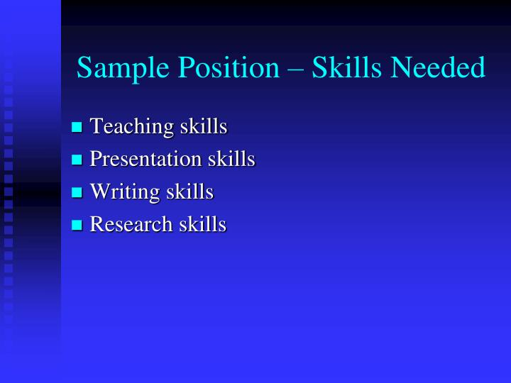 sample-position-skills-needed-n Sales Position Curriculum Vitae on high school, ejemplos de, resume or, what is, formato de,